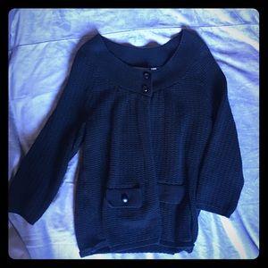 Sweet Pea large black knit cardigan soft & cozy